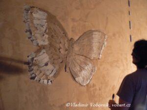 Galerie a Showroom hliněných omítek Motýl hliněná omítka Vladimír Voborník VobArt